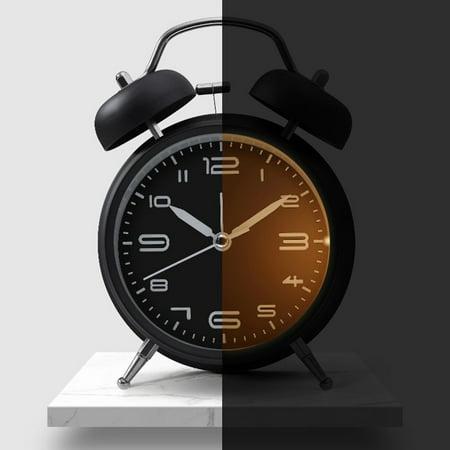 Creative Metal Alarm Clock with Night Light Mechanical Alarm Clock Fashion Multifunctional Personality Student Alarm Clock - image 6 of 6