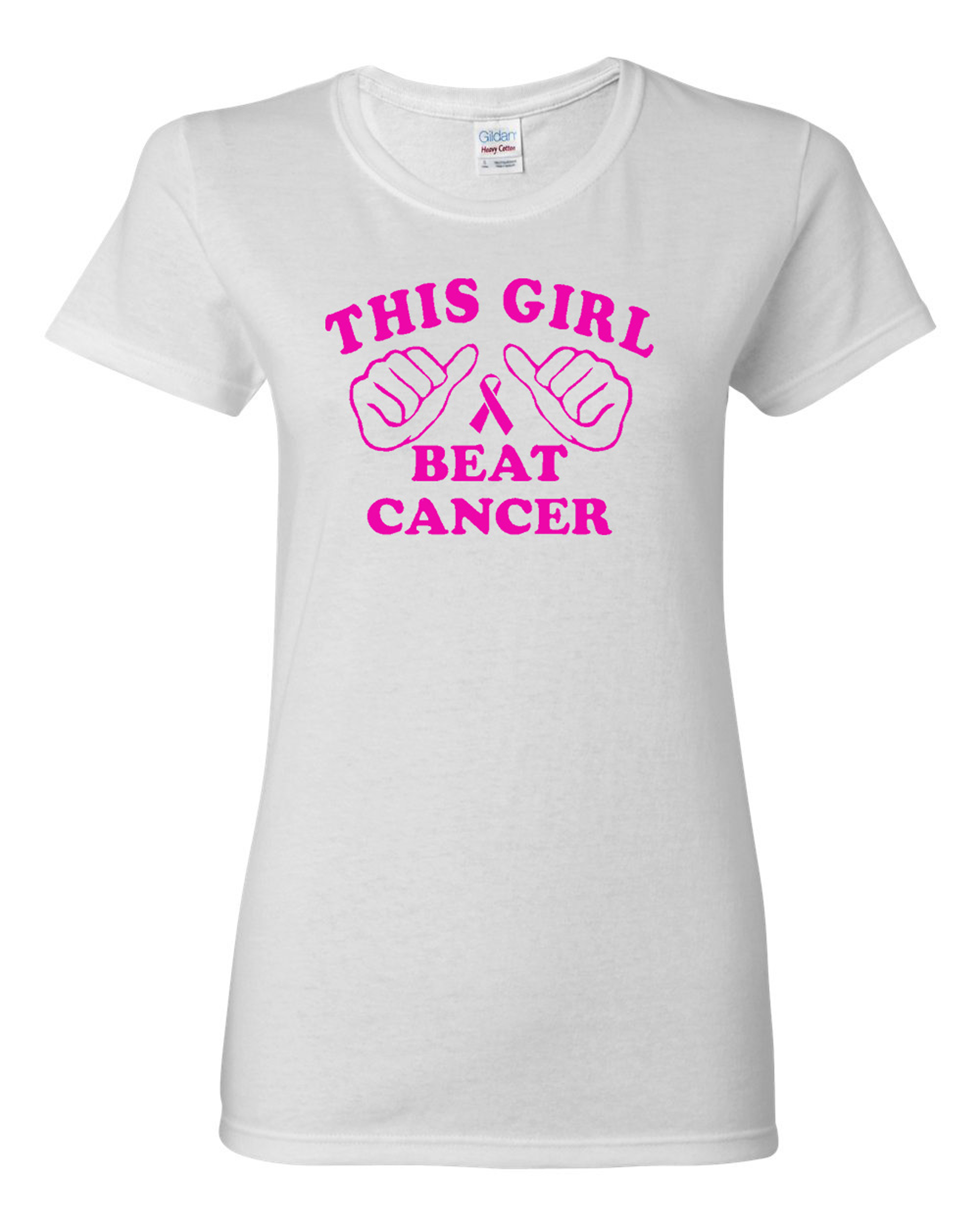 Ladies This Girl Beat Cancer Survivor T-Shirt Tee