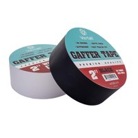 Gaffer Tape Premium Grade, Non-reflective Residue-free Matte Cloth Fabric, 2 inch x 30 yards by Vertall - Black