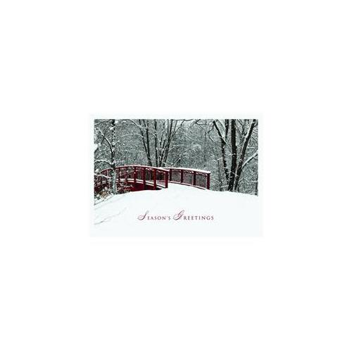 Birchcraft Studios 1173 Winter Awaits - Silver Lined Envelope with White Lining - Burgundy Ink - Pack of 25