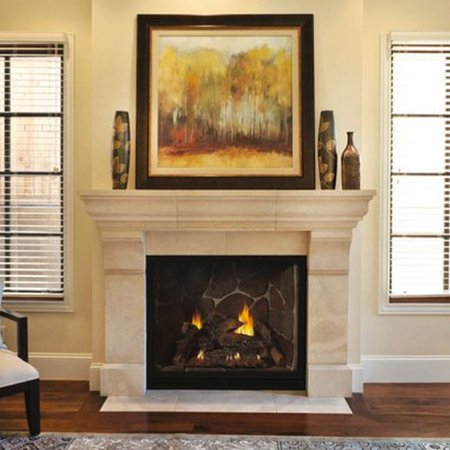 """Tahoe DV 42"""" Clean Face Traditional MV Luxury Fireplace - NG"""