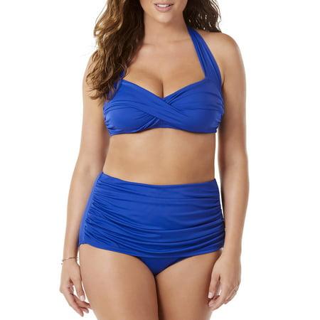 f80f9fedc5c39 Simply Slim - Women's High-Waisted Bikini Two-Piece Glam Swim Set -  Walmart.com