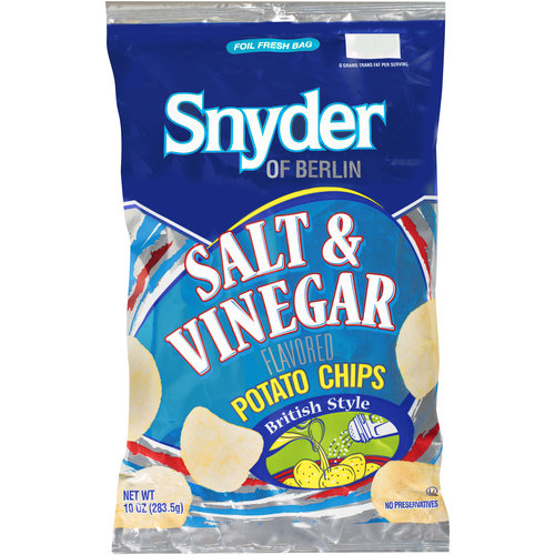 Snyder of Berlin Salt & Vinegar Flavored Potato Chips, 10 oz