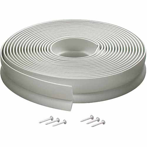 M-D Products 03822 30' White Vinyl Garage Door Seal For top and Sides