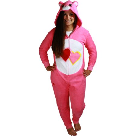 Care Bears Love-a-Lot Bear Women's Cosplay Union Suit - Toddler Care Bear Costume