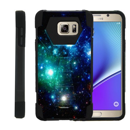 Case for Samsung Galaxy Note 5 N920 [ Shock Fusion ] High Impact Shock Resistant Shell Case + Kickstand - Blue Space