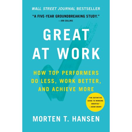 Great at Work : How Top Performers Do Less, Work Better, and Achieve More](How Does A Fog Machine Work)
