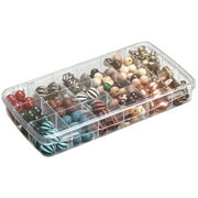 Organizer deluxe boxbead 20comp jd lbl clear for Darice jewelry designer bead storage system with 24 containers