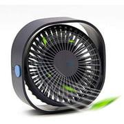 Desk Fan, Hertekdo USB Fan Electric Fan Desktop Quiet Fan Portable Mini Fan with 3 Speed Strong Wind Great for Office,