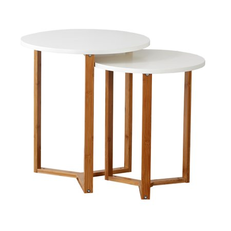 Mainstays Bamboo Collection Wooden Nesting Tables