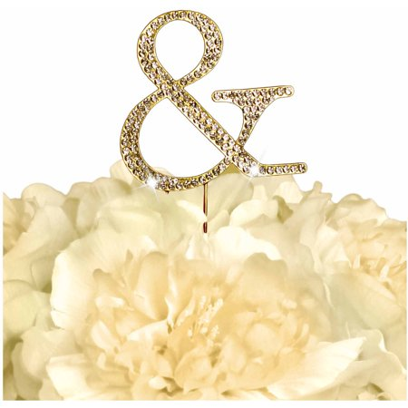 Unik Occasions Collection Rhinestone Wedding Cake Topper, - Ampersand Cake Topper