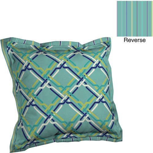Better Homes and Gardens Deep Seat Pillow Back with Flange Outdoor Cushion, Braid Geometic