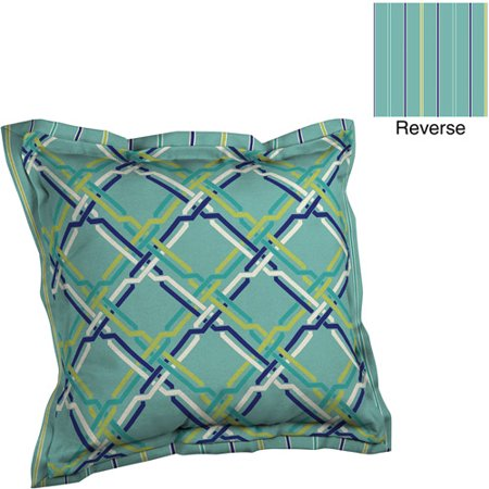 Better Homes And Gardens Deep Seat Pillow Back With Flange Outdoor Cushion Braid Geometic