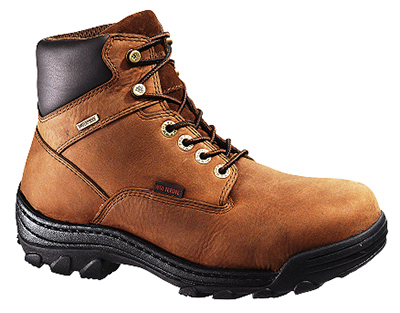 Wolverine Worldwide W05483 11.0EW Durbin Waterproof Work Boots, Extra Wide, Brown Nubuck Leather, Men's Size 11