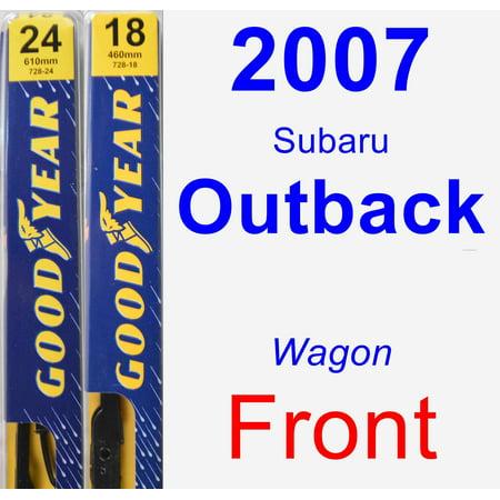 2007 Subaru Outback Wiper Blade Set/Kit (Front) (2 Blades) - (2007 Subaru B9 Tribeca Wiper Blade Replacement)