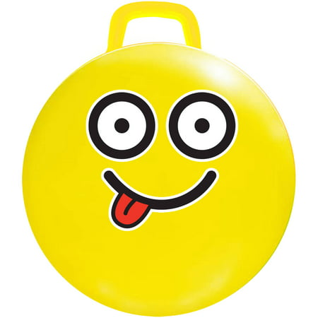 "18"" Yellow Emoji Jumping Ball, #Silly"