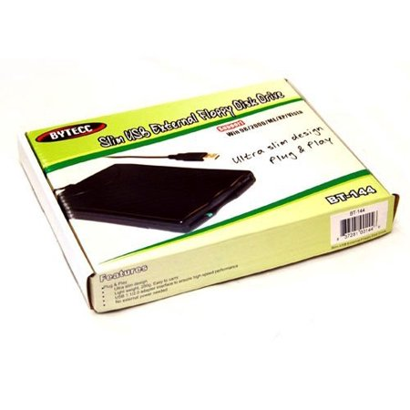 Sole Source SS-BT-144 Slim Black Usb External Floppy Disk