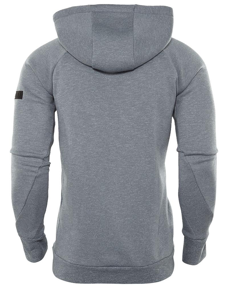 Nike Mens ICON FLEECE PO HOODIE, COOL GREY/BLACK, 2XL