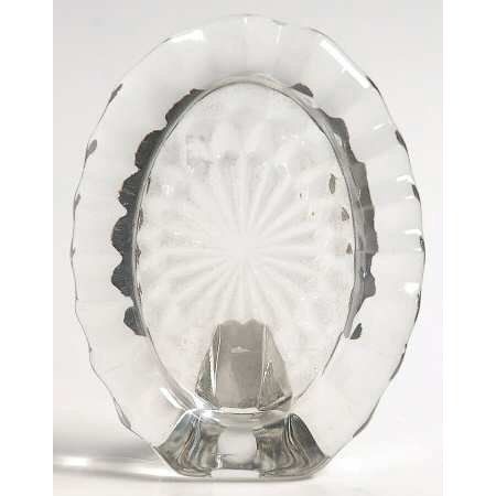 "Vintage Fostoria Crystal Clear Glass American 4"" Oval Picture Frame"