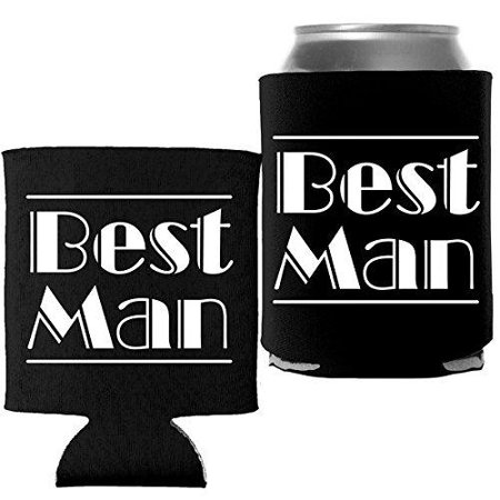 Best Man - Wedding Bachelor Party Coolie Can Wrap Cooler - (Best Bachelor Pad Accessories)