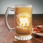 Personalized Outdoorsman Beer Mugs, 13 oz - Bear Den, Set of 4