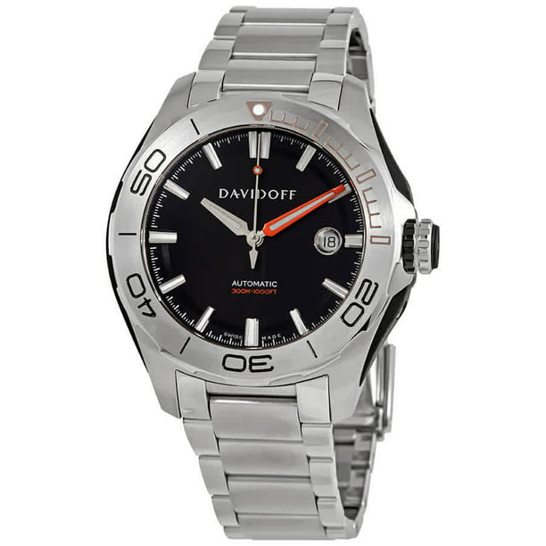 Davidoff Velocity Diver Automatic Black Dial Men's Watch