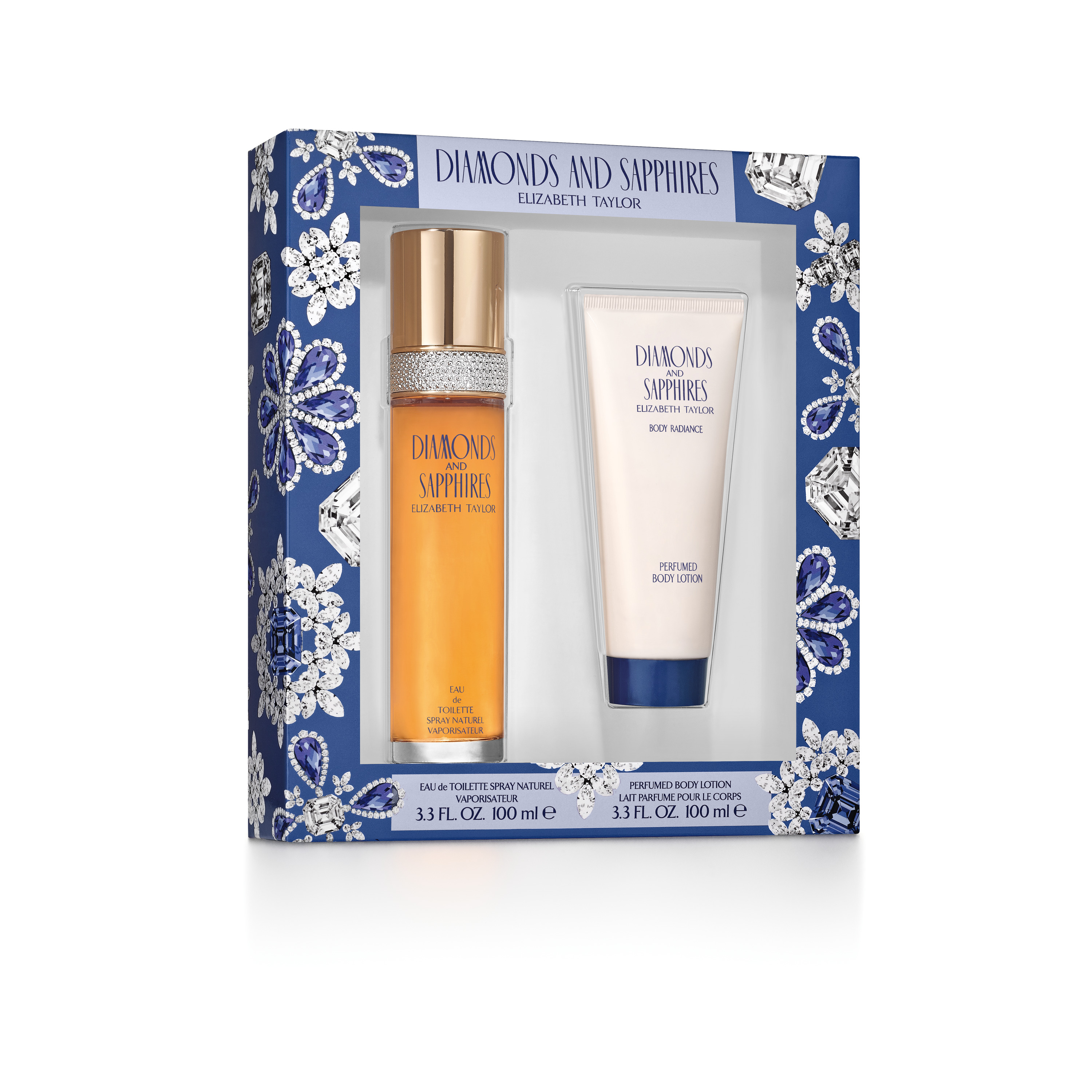 Elizabeth Taylor Diamonds and Sapphires Fragrance Gift Set for Women, 2 pc