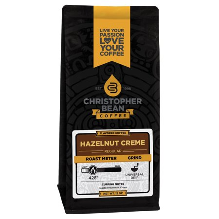 Hazelnut Crème Flavored Decaf Ground Coffee, 12 Ounce Bag