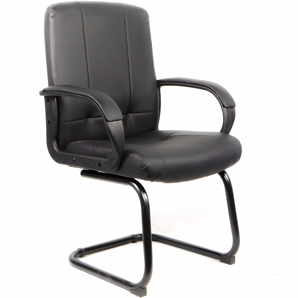 XtremepowerUS Barton Executive Ultra Thick PU Leather Receptional Office Chair, Black
