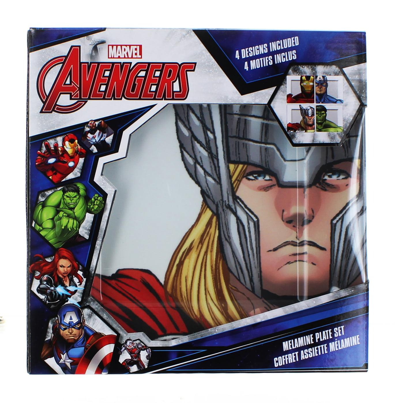 Marvel Avengers Melamine Plate Set, 4 Pieces
