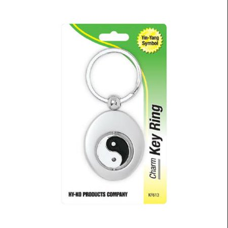 HY-KO PROD CO Key Chain, Yin-Yang, Silver