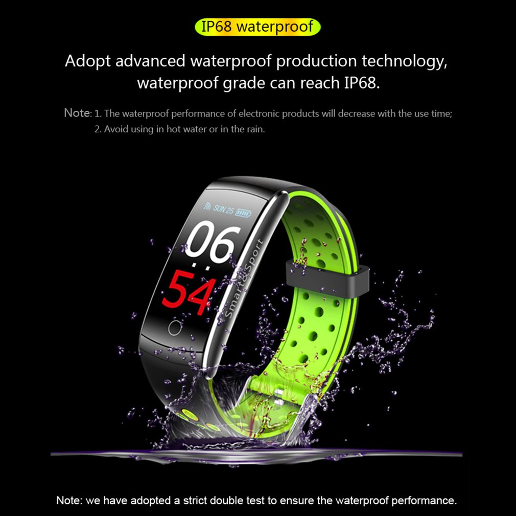 Q8 Smart Armband Hartslagmeter Fitness Tracker Bluetooth Polsbandje IP68 Waterdichte Monitor Sport Smartband voor Android IOS