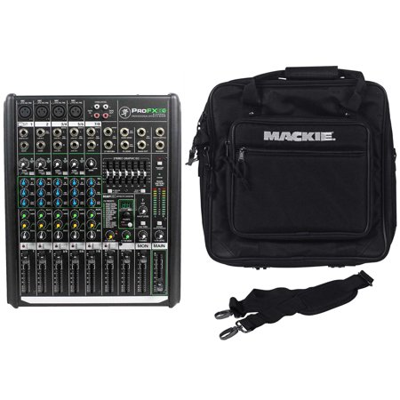 Mackie PROFX8v2 Pro 8 Channel Mixer w Effects+Travel Bag With Shoulder Strap (Mackie Profx8 Effects Mixer)