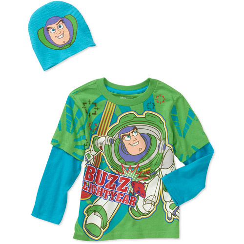 Disney  Baby Boys' Toy Story 2-Piece Hangdown and Hat Set