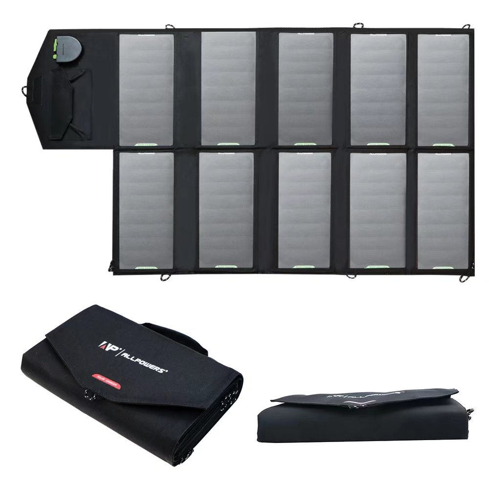 ALLPOWERS 60W Foldable Solar Panel Charger with iSolar Te...