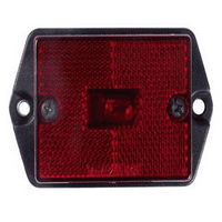 RECTANGULAR CLEARANCE LIGHT RED