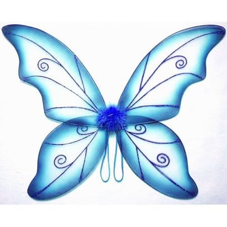 Blue Adult Fantasy Butterfly Fairy Wings Tinkerbell Womens Costume Accessory - Pretty Fairy Wings