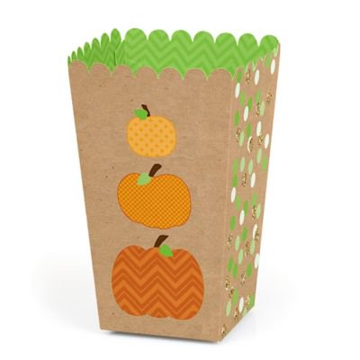 Halloween Popcorn Names (Pumpkin Patch - Fall or Halloween Party Favor Popcorn Treat Boxes - Set of)