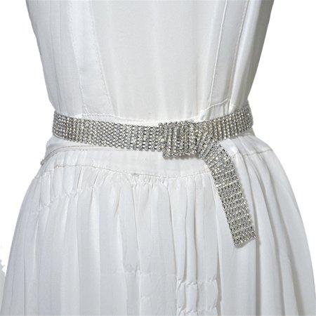 Wonder Woman Gold Belt (iLH Fashion Full Rhinestone Shiny Waistband Women Party Dress Belt)