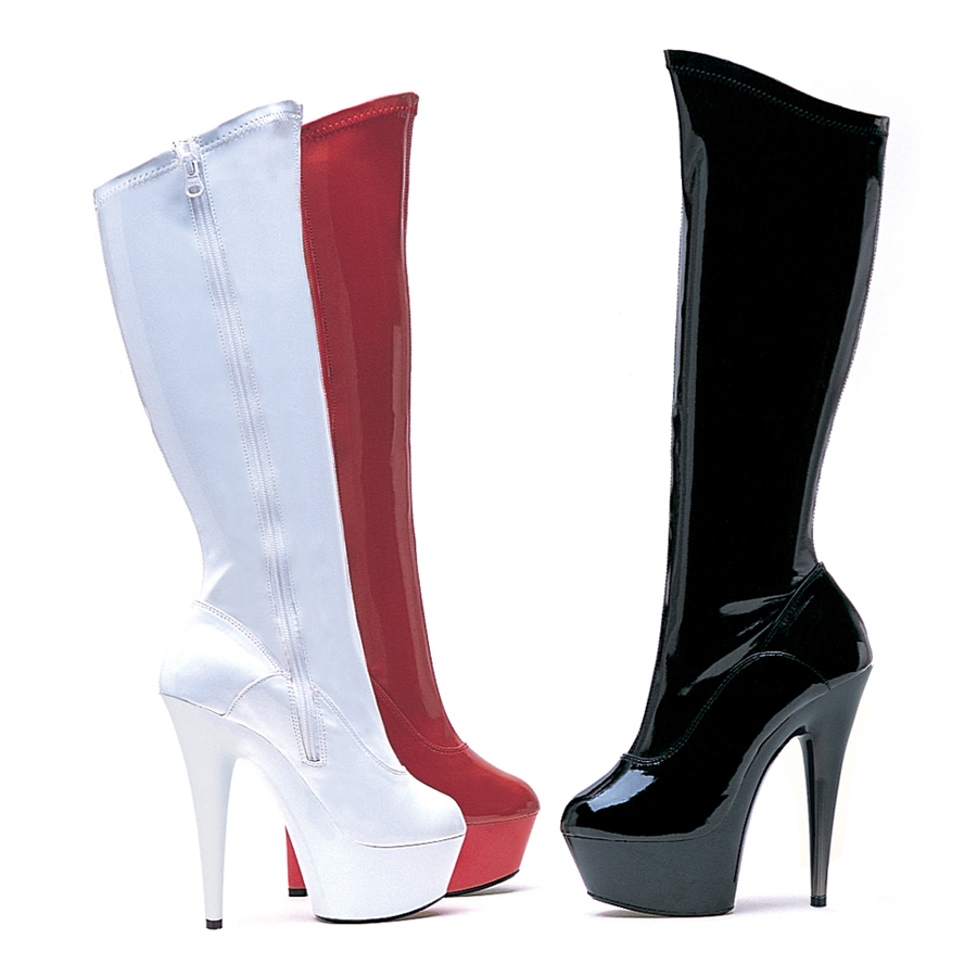 609-Emma 6'' Pointed Stiletto Stretch Knee Boot