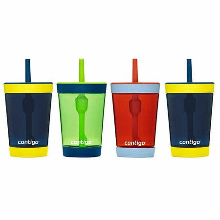 Contigo Kids Spill-Proof 14oz Tumbler, Blue/ Green/ Red