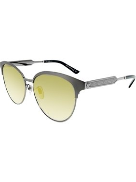 3aab4608b93 Product Image Gucci Mirrored GG0074SK-005-5 Silver Butterfly Sunglasses