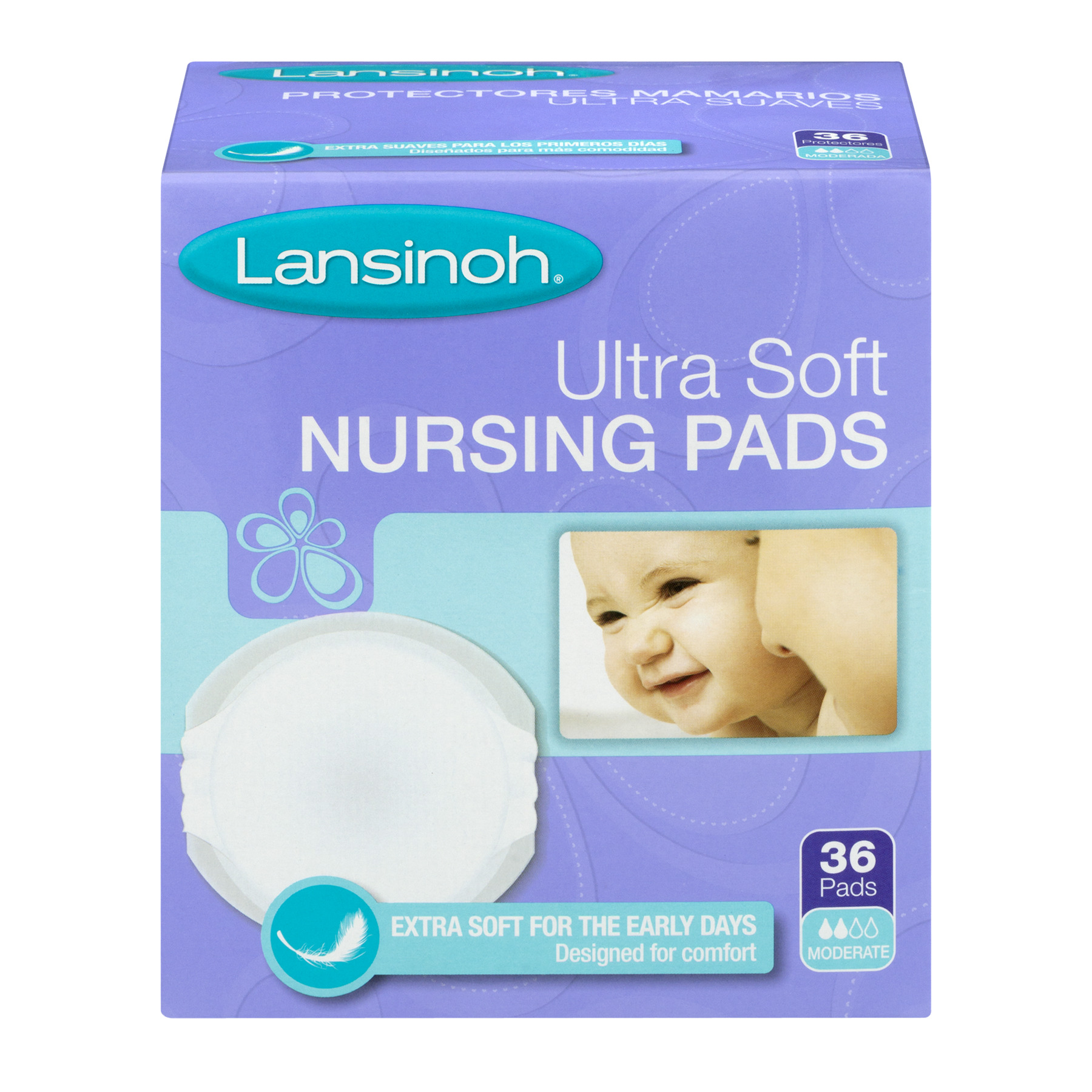 Lansinoh Disposable Ultra Soft Nursing Pads , 36 ct