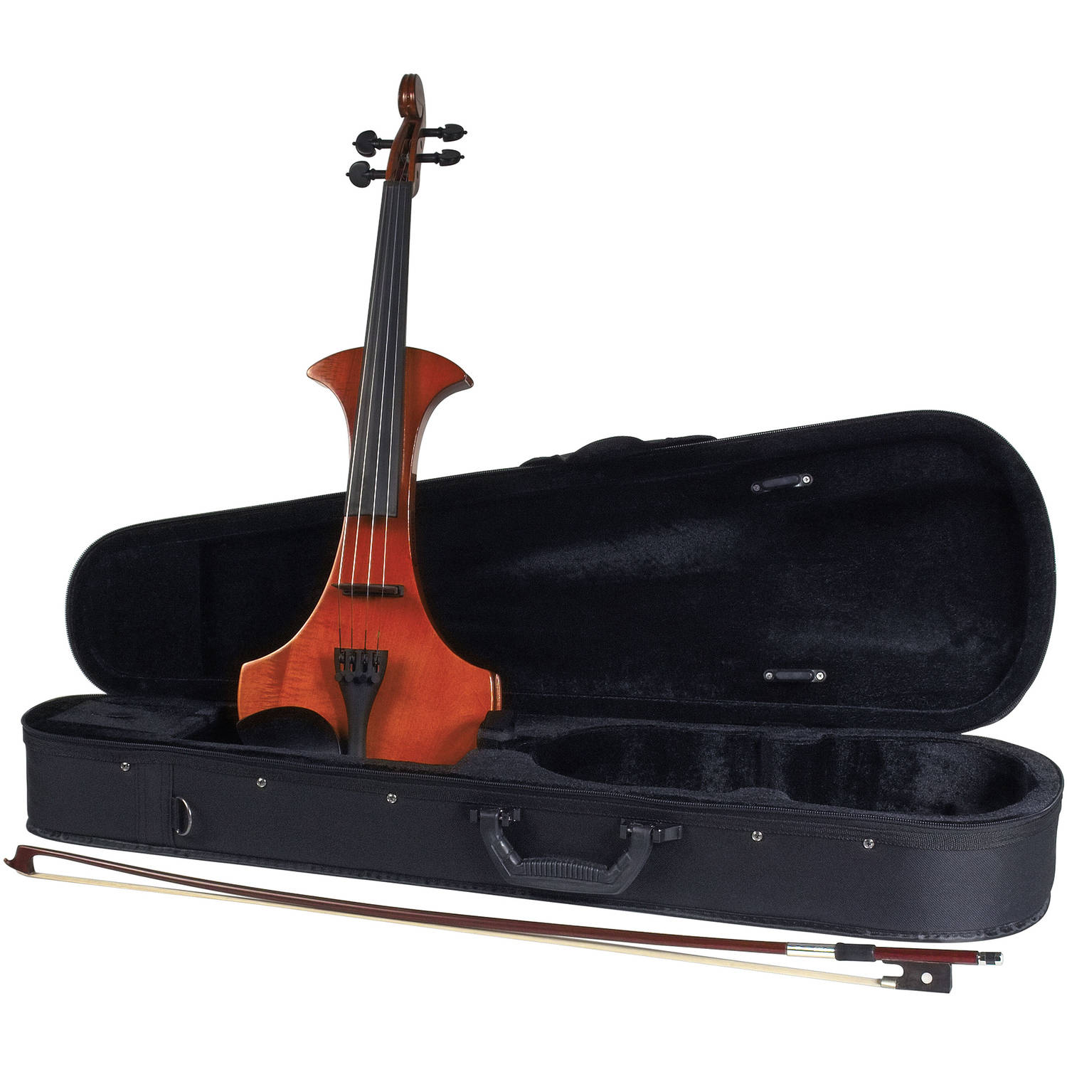 Cremona SV-180E Premier Student Electric Violin Outfit, 4 4 Size by Generic