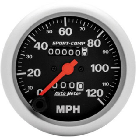 AUTO METER 3992 Sport-Comp In-Dash Mechanical Speedometer 0-120 Mph - image 1 of 2
