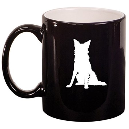Ceramic Coffee Tea Mug Cup Border Collie (Black)