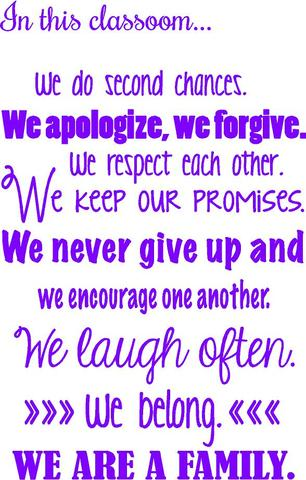 """In This Classroom..Wall Quotes 
