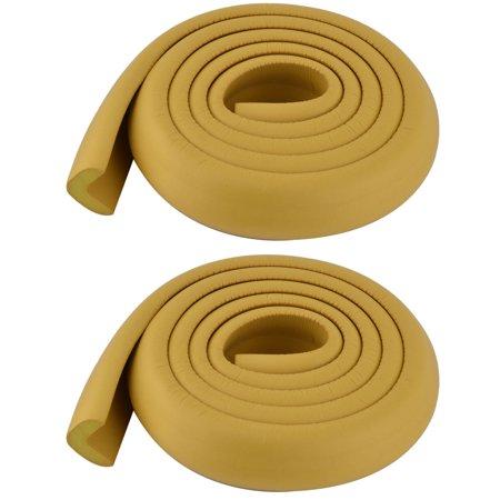 Flat Furniture Foam Rubber Safety Corner Edge Protector Cushion Wood Color 2 Pcs - image 5 de 5