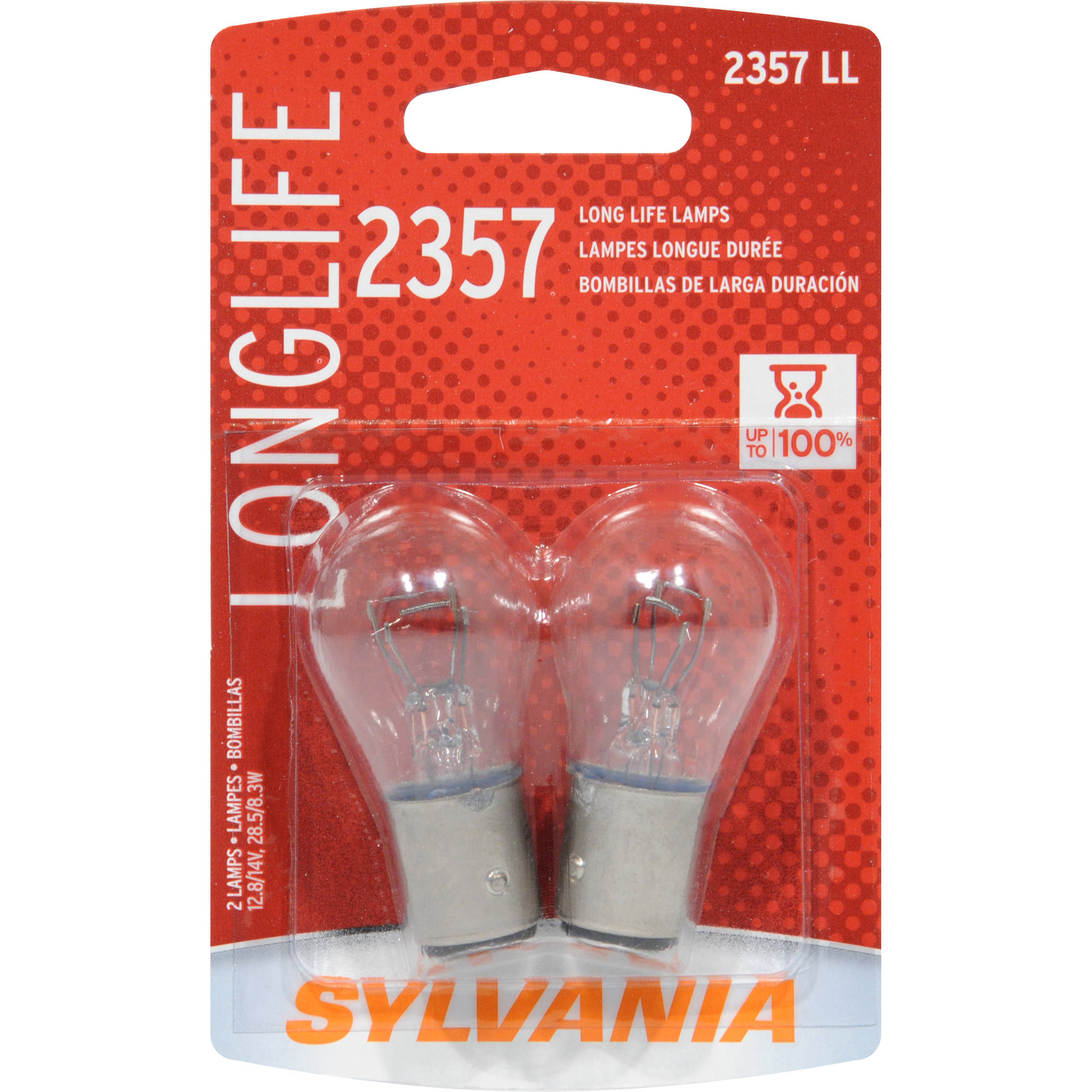 Sylvania 2357 Long-Life Miniature Bulb, Twin Pack