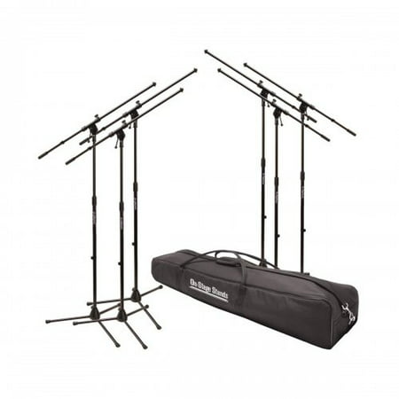 On-Stage Stands MSP7706 6 Euroboom Mic Stands w/Bag - image 1 de 1